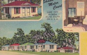 LAKE CITY, Florida, 1930-1940's; Shaw's Motor Court