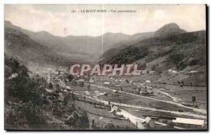 Old Postcard Le Mont Dore Panoramic view