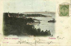 denmark, FREDERICIA, Udsigt fra Lodstaarnet (1905) Postcard