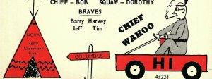 Vintage QSL Postcard  KPM 0808  Columbus, Ohio  Hinton's Hooligans  -T-