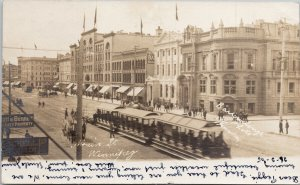 Main Street Winnipeg MB Manitoba c1905 Barrowclough RPPC Postcard E70