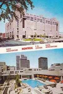 2-Views, Place Bonaventure, Swimming Pool, Montreal, Quebec, Canada, 1950-1970s