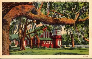 Mississippi Biloxi The Ring In The Oak and The Church Of The Redeemer Curteich