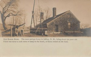 LPS69 Jaffrey New Hampshire Old Baker Home Postcard RPPC