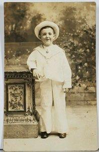RPPC The Cutest Sailor Boy! Wash DC Studio  Hagerstown Md Family Est Postcard K2