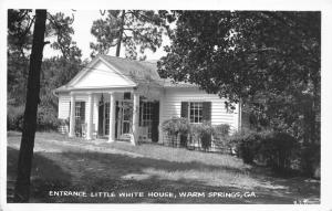 Warm Springs Georgia~Little White House Entrance~1940s Real Photo Postcard-RPPC