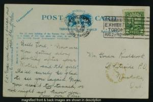 Toronto Star Bldg to Whiteside Muskoka ON postmark 1929