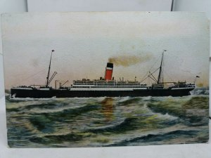 Vintage Postcard Old Unidentified Steam Ship