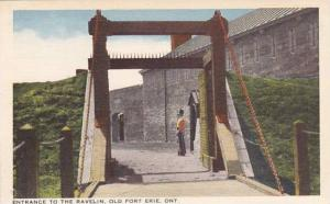 Entrance to the Ravelin, Old Fort Erie, Ontario, Canada, 30-40s
