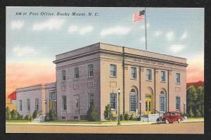 Street View Post Office Rocky Mount North Carolina Unused c1940s