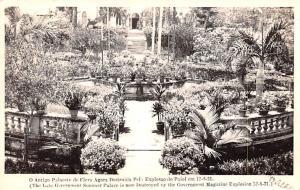 Macau Postcard O Antigo Palacete de Flora Agora Destruida Pel