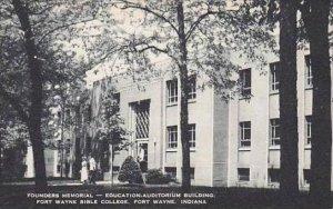 Indiana Fort Wayne Founders Memorial Education Aduitorium Building Fort Wayne...