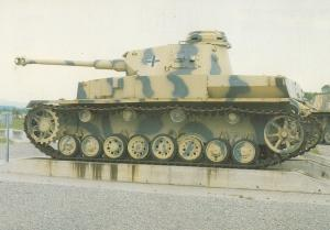 Panzerkampfwagen 4 IV German WW2 Tank at Aberdeen Military Postcard