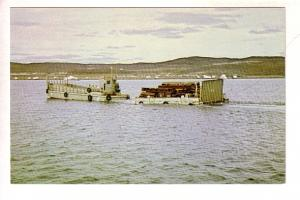 Lightering Sea Lift Supplies, Frobisher Bay, NWT,