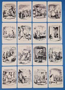 NEW Set of 16 Mini Postcards Oliver Twist Illustrations by George Cruikshank