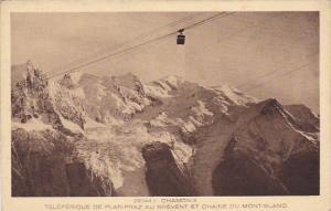 France Chamonix Teleferique de Plan-Praz au Brevent et Chaine du Mont Blanc