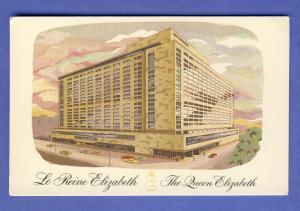 Montreal, Quebec, Canada Postcard, Le Reine Elizabeth Hotel
