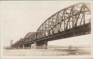 c.1917 Pacific Highway Interstate Bridge RPPC Vancouver WA Portland OR Postcard