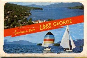 Folder - NY. Lake George     12 views + narrative + 27-inch panorama + map
