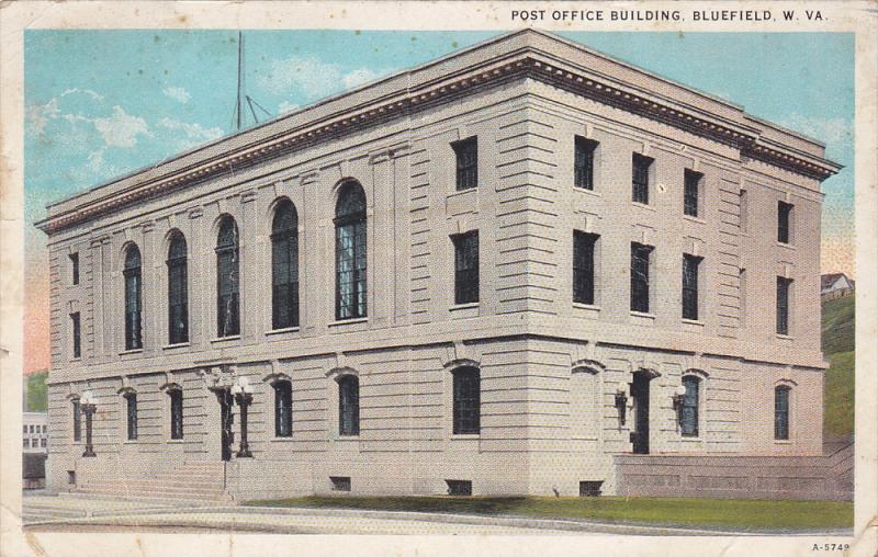 Post Office , BLUEFIELD , West Virginia , PU-1923