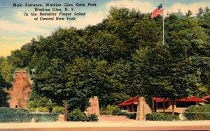New York Watkins Glen State Park Main Entrance Curteich