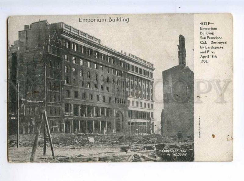 214127 USA EARTHQUAKE San-Francisco 1906 yea Emporium Building