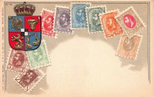 Romania, Classic Stamps on Embossed Postcard, Unused, Published by Ottmar Zieher