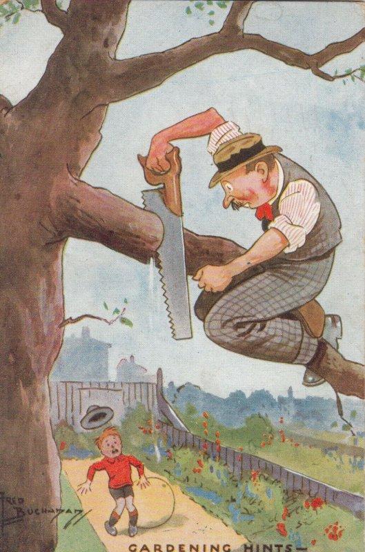 AS: Fred Buchanan: Gardening Hints, PU-1933; TUCK # 3616