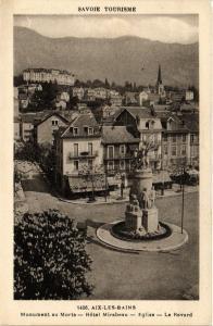 CPA  Aix-les-Bains -Monument au Morts -Hotel Mirabeau -Eglise -Le Revard(653499)