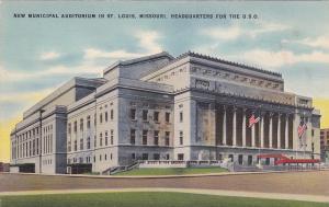 New Municipal Auditorium in ST LOUIS, Missouri, 30-40s; Headquarters for the USO