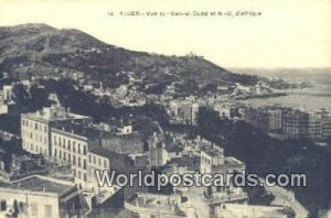 Vue sur Bab-el-Oued et ND D'Afrique Alger Algeria, Africa, Unused
