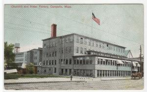 Churchill Alden Shoe Factory Campello Brockton Massachusetts 1908 postcard
