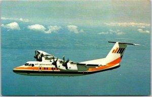 Vintage AIR WISCONSIN Aviation Advertising Postcard Quiet deHavilland Dash 7