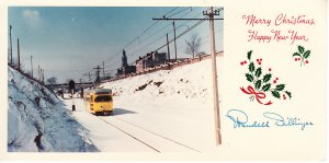 Xmas Card - Wendell Dillinger - M&H RR  Trolley Photo