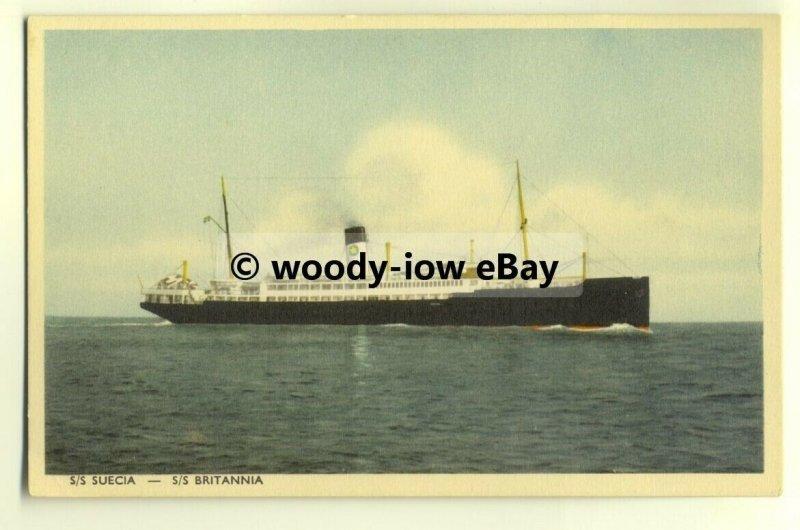 f0009 - Swedish Lloyd Ferry - Britannia or Suecia - postcard