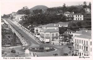 Madeira Portugal Praca e Avenida  Real Photo Antique Postcard J65759