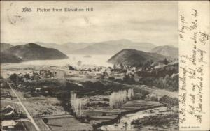 Picton New Zealand Birdseye View 1905 Used Postcard - Cover Cancels