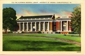 VA - Charlottesville. University of Virginia, Alderman Memorial Library