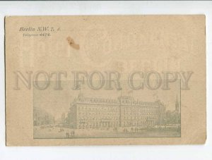 287210 GERMANY BERLIN ADVERTISING Hotel Continental Vintage postcard