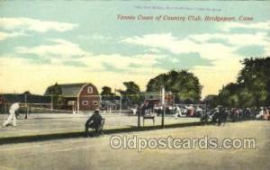 Tennis Court of Country Club, Bridgeport, CT, USA Tennis Postcard Postcards  ...