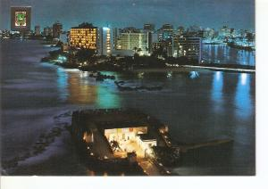 Postal 022610 : Fuerte de San Jeronimo con el Condado al fondo, Puerto Rico S...