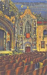 Tampa FL The Tampa Theatre Interior View Curt Teich Postcard