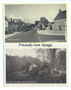 tb0252 - Surrey - Stella's Cottage in Waverley, & Farnham Common - 2 postcards