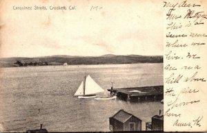 California Crockett Carquinez Straits 1907 Rotograph