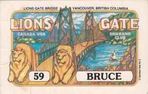LIONS GATE Bridge, Vanouver , B.C. , 40-60s