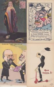 PROPAGANDA SATIRE incl. WW1 POLITIC 320 Vintage Postcards pre-1940 in Box