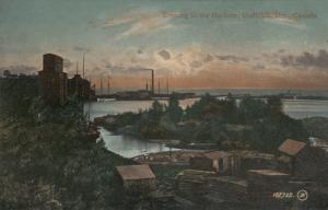 GODERICH , Ontario , 1900-10s : Evening in the Harbor