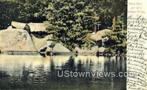 Rocky Point, Loon Lake in Hillsboro Bridge, New Hampshire