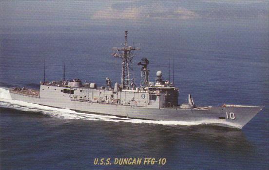U S S Duncan FFG-10 Guided Missile Frigate
