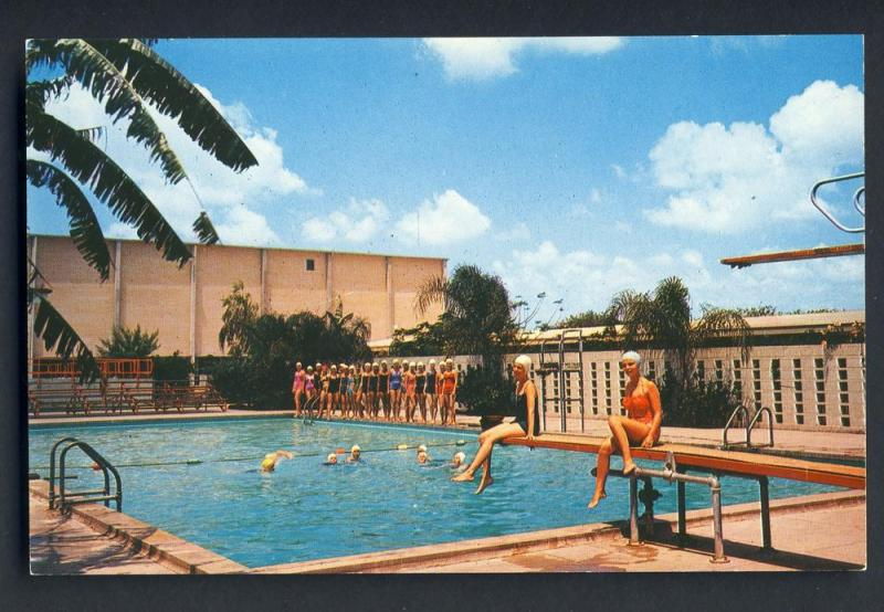 Brownsville Texas Tx Postcard Swimming Pool Civic Center